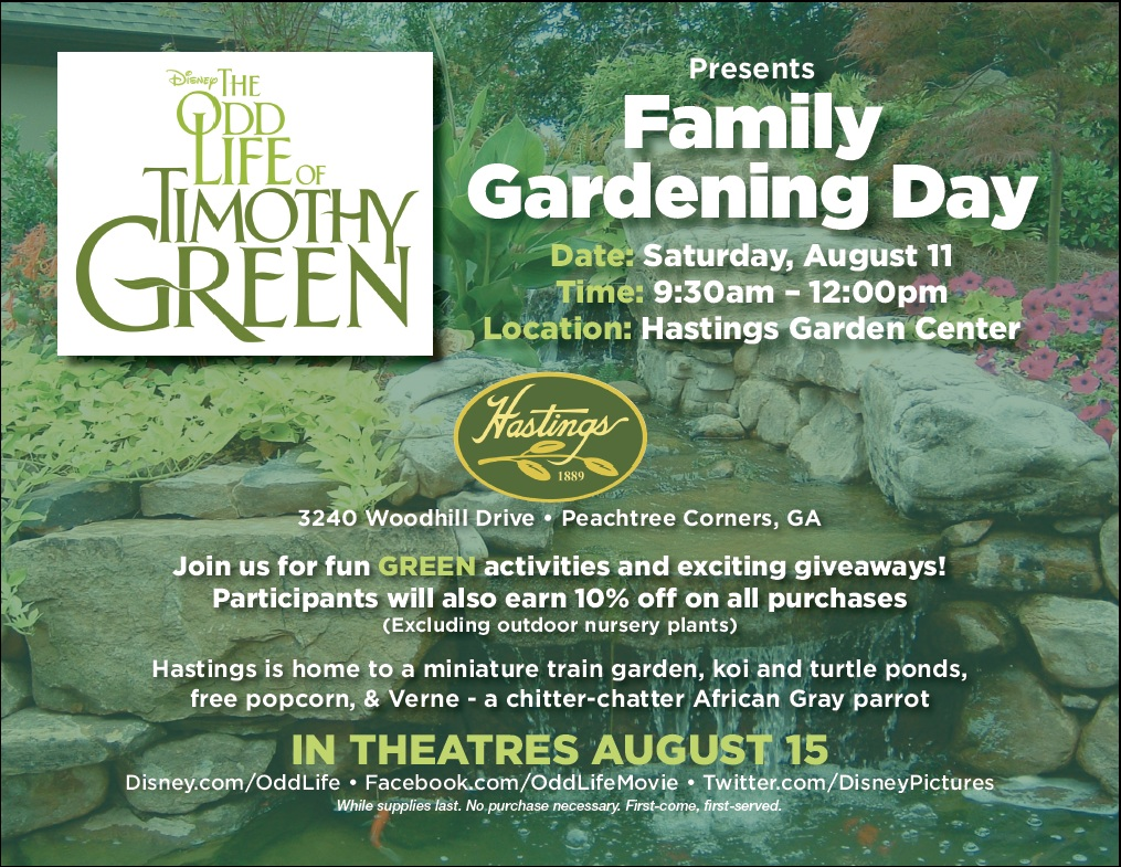 Captivating The Odd Life Of Timothy Green   Family Gardening Day At Hastings
