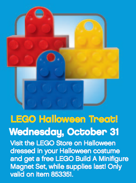 Atlanta LEGO store free Halloween Treat for kids