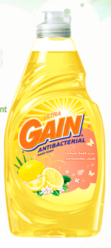 Gain Lemon Zest dish soap